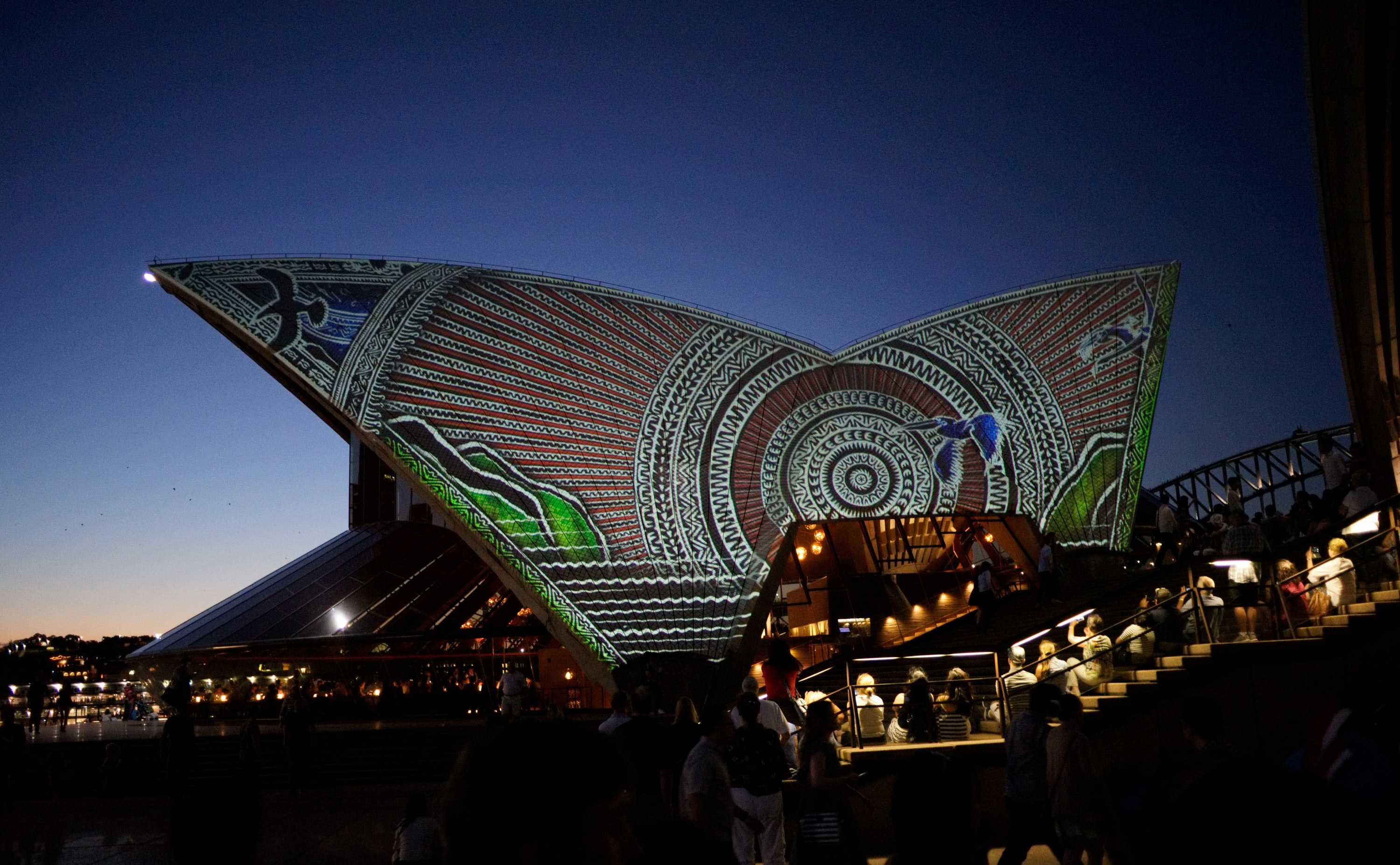 Projection on the Sydney Opera House.