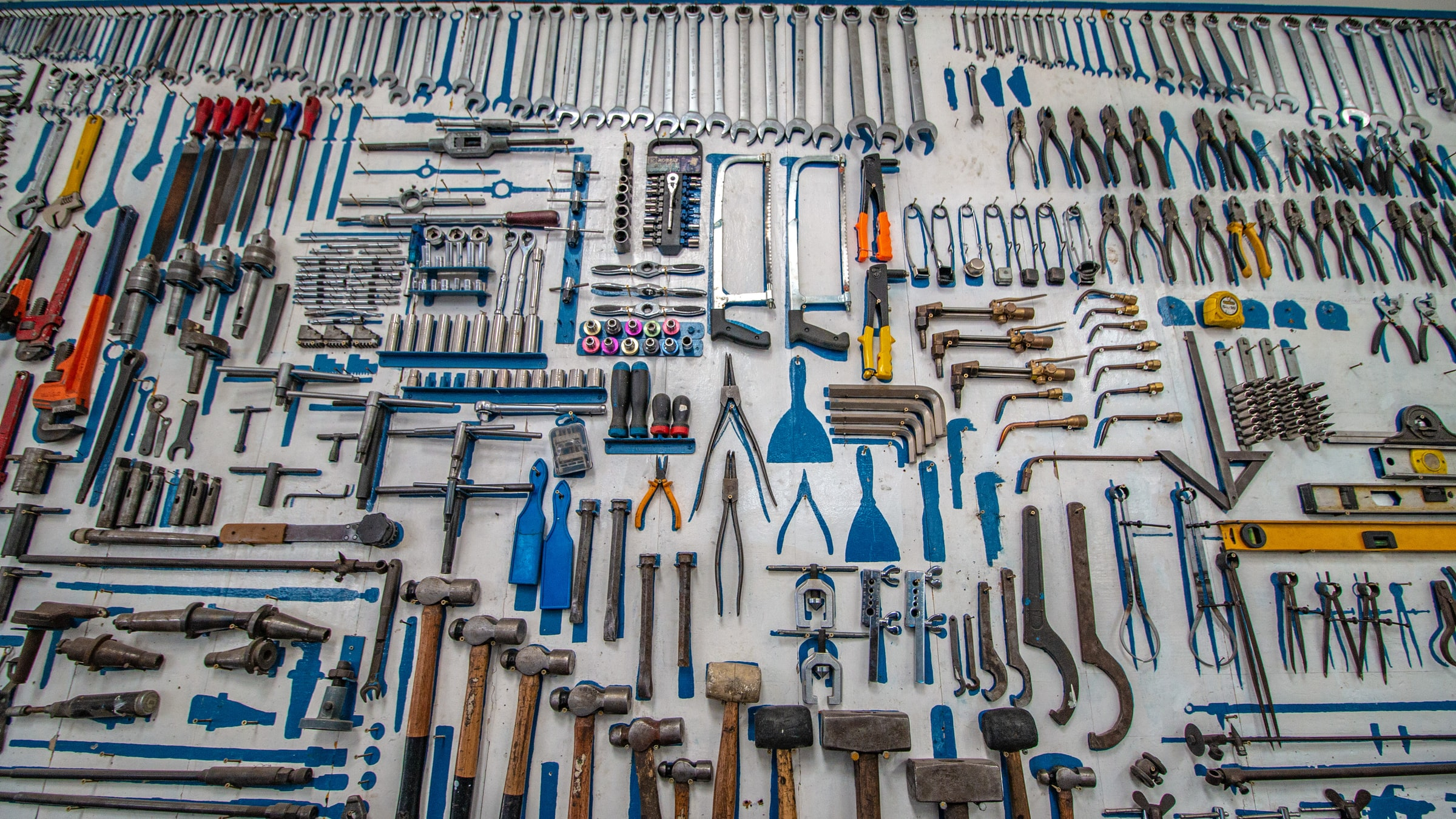 Nice layout of tools